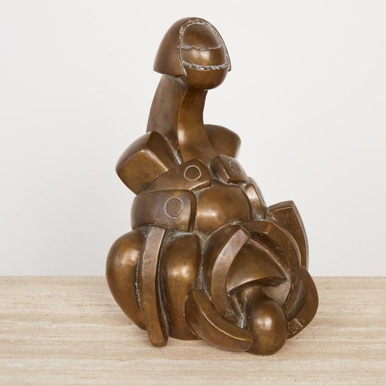 20th Century Camilo Otero Bronze Abstract Sculpture For Sale