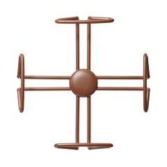 Camomila Brazilian Contemporary Metal Coat Rack by Lattoog