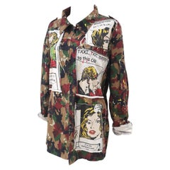 Camouflage comic cotton shirt / jacket
