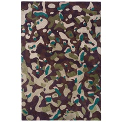 Camouflage Macro, Handtufted, Wool and Viscose, Alberto Artesani
