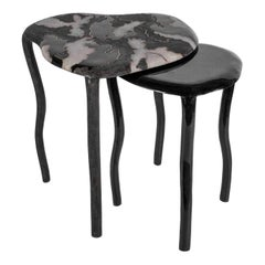Camouflage-Pattern Inlaid Nesting Side Table in Shagreen & Shell by R&Y Augousti
