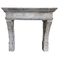 Campagnarde Style Mantle from the 19th Century of French Limestone