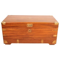 Campaign Chest in Camphor Wood, 19th Century