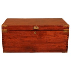 Campaign Chest in Teak, Early 19th Century