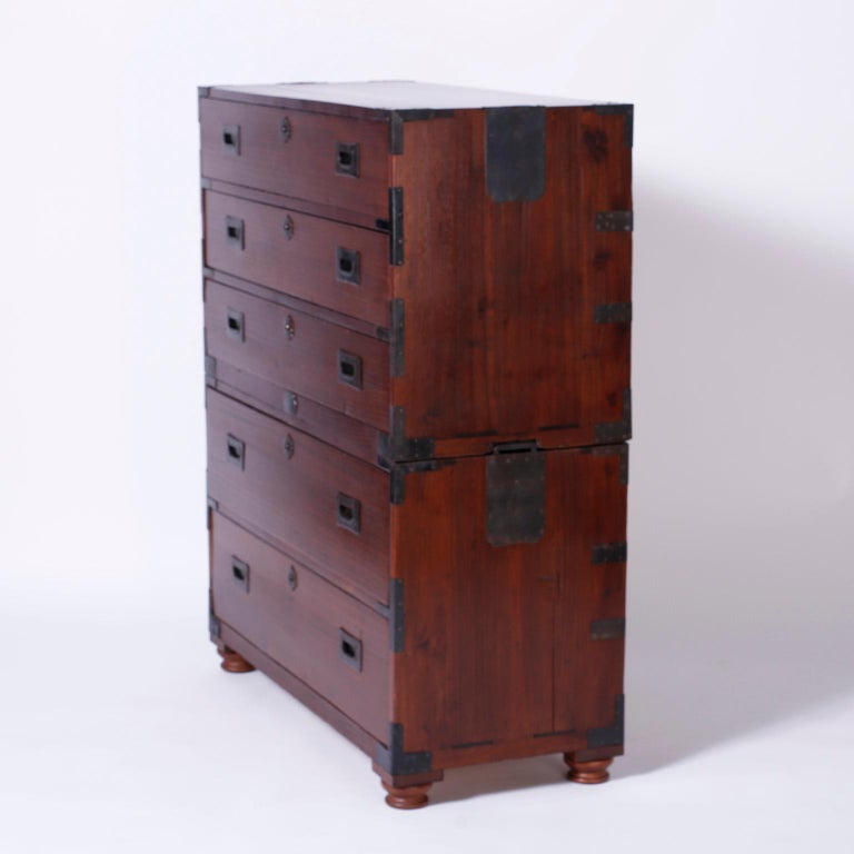 Campaign Chest of Drawers For Sale 2