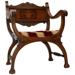 Campaign Prayer Chair, 19th Century