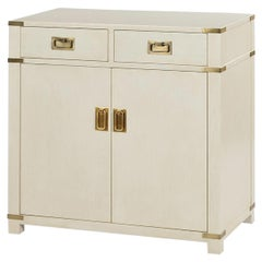 Campaign Style Cabinet, Drift White
