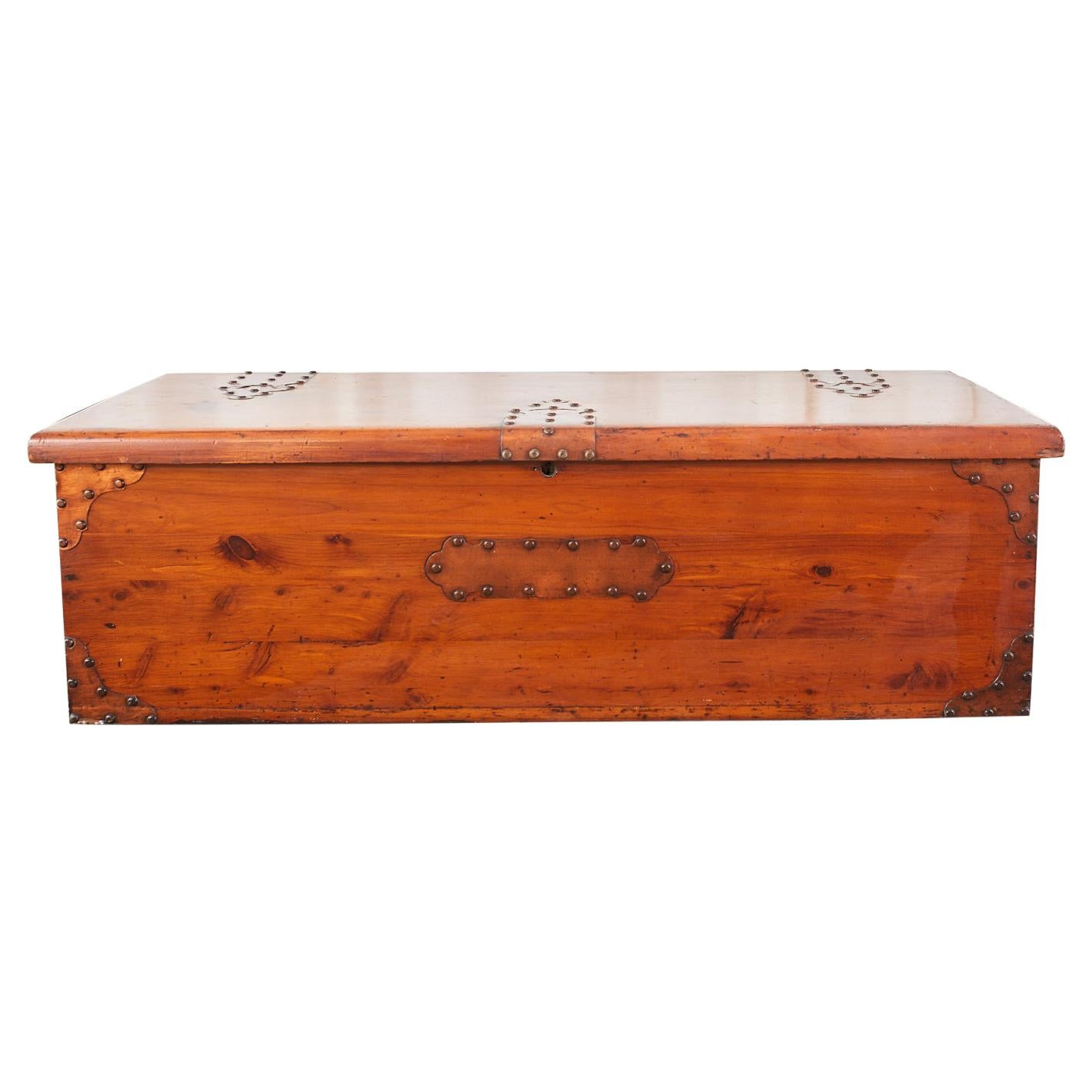 Campaign Style Cedar Blanket Chest or Coffee Table