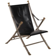 Campaign Style Chair by Maison Jansen