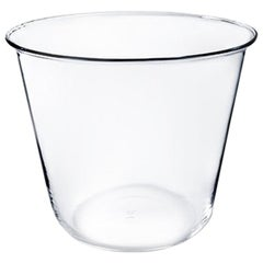 Campana Small Vase or Ice Bucket in Glass Blown in a Mold Designed by Aldo Cibic