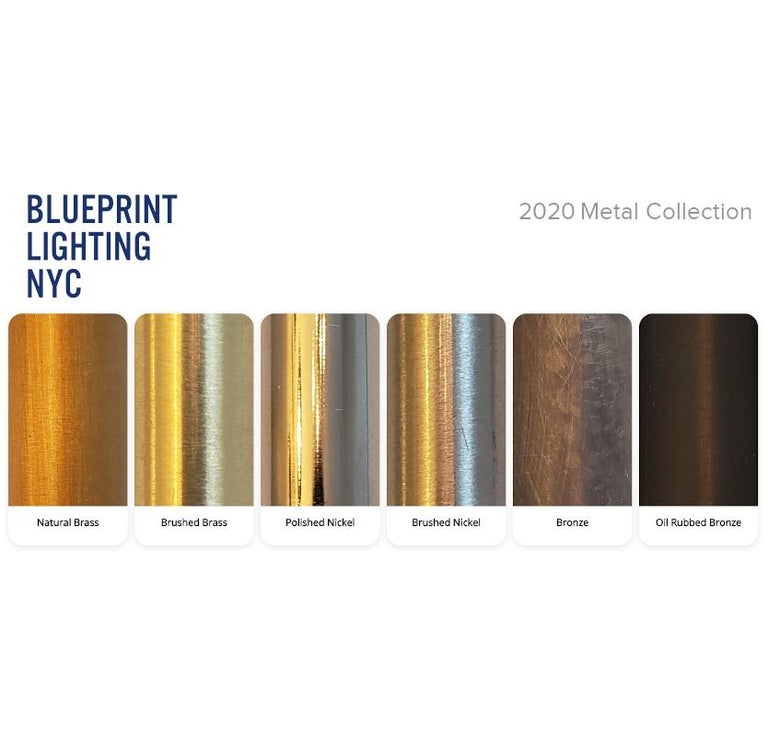 Contemporary Campana Wall Sconce in Oil-Rubbed Bronze & Dark Blue Enamel, Blueprint Lighting For Sale