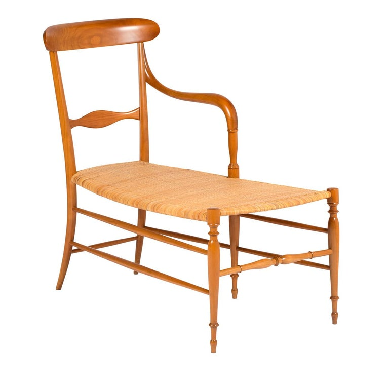 Campanino Chaise Lounge by La Sedia Di Chiavari In New Condition For Sale In Milan, IT