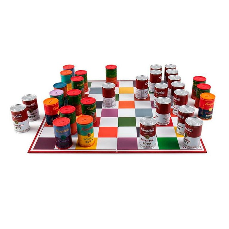 Campbell's Soup Can Chess Set, after Andy Warhol In New Condition In Jersey City, NJ