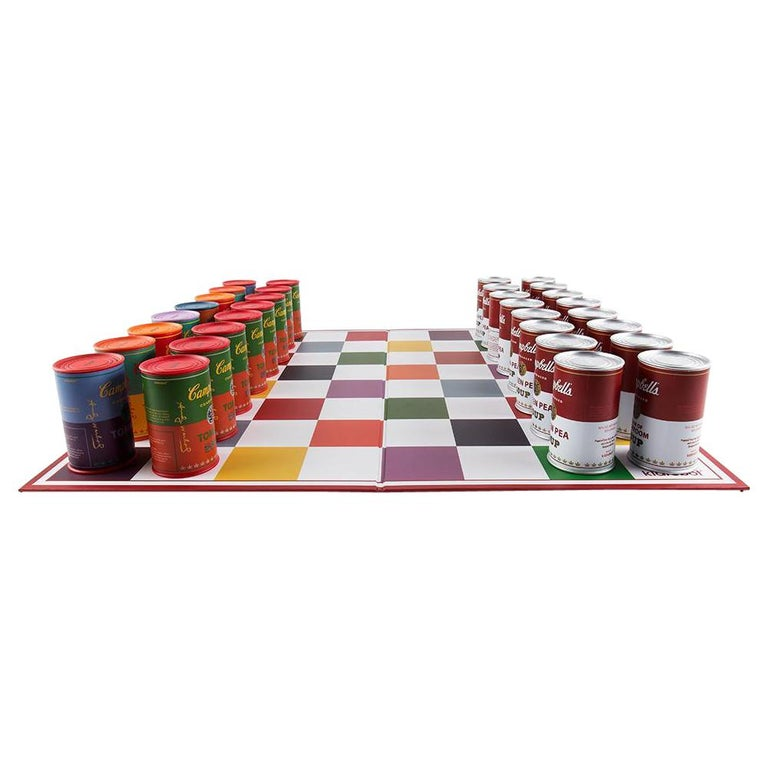 Campbell's Soup Can Chess Set, after Andy Warhol