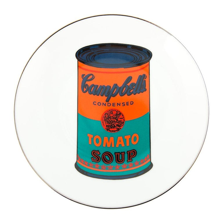 French Campbell's Soup Dinner Plates, after Andy Warhol For Sale