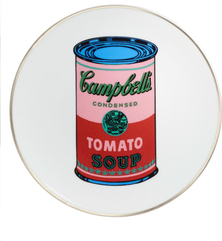 Campbell's Soup Dinner Plates, after Andy Warhol In New Condition For Sale In Jersey City, NJ