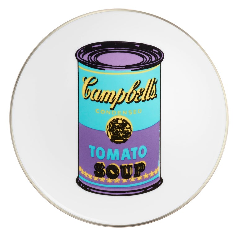 Contemporary Campbell's Soup Dinner Plates, after Andy Warhol For Sale