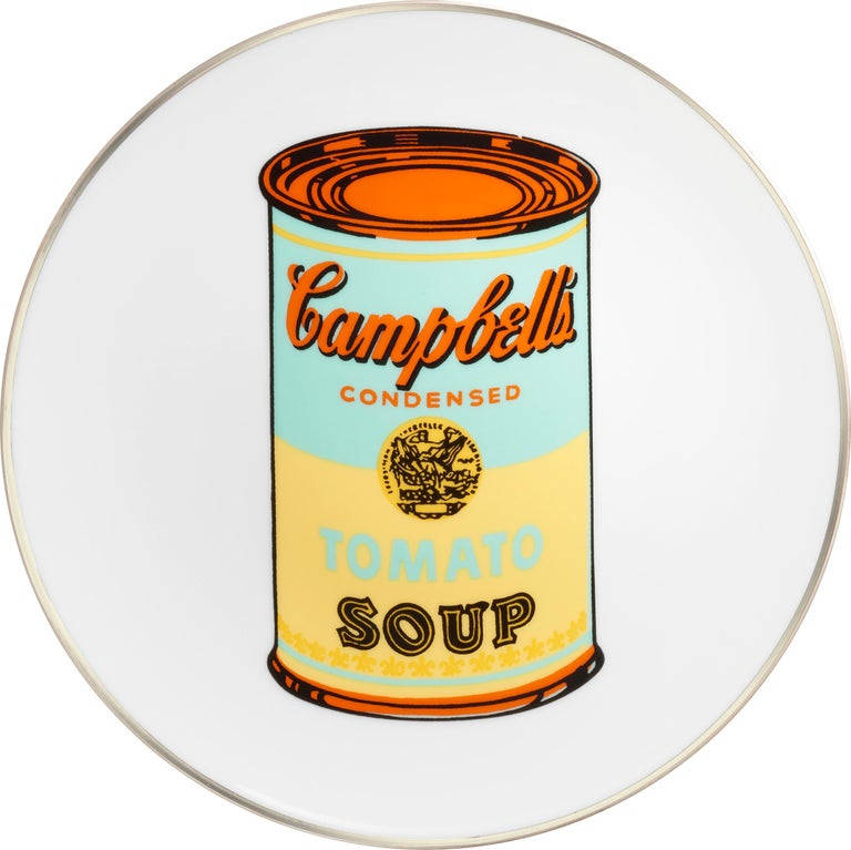 Porcelain Campbell's Soup Dinner Plates, after Andy Warhol For Sale