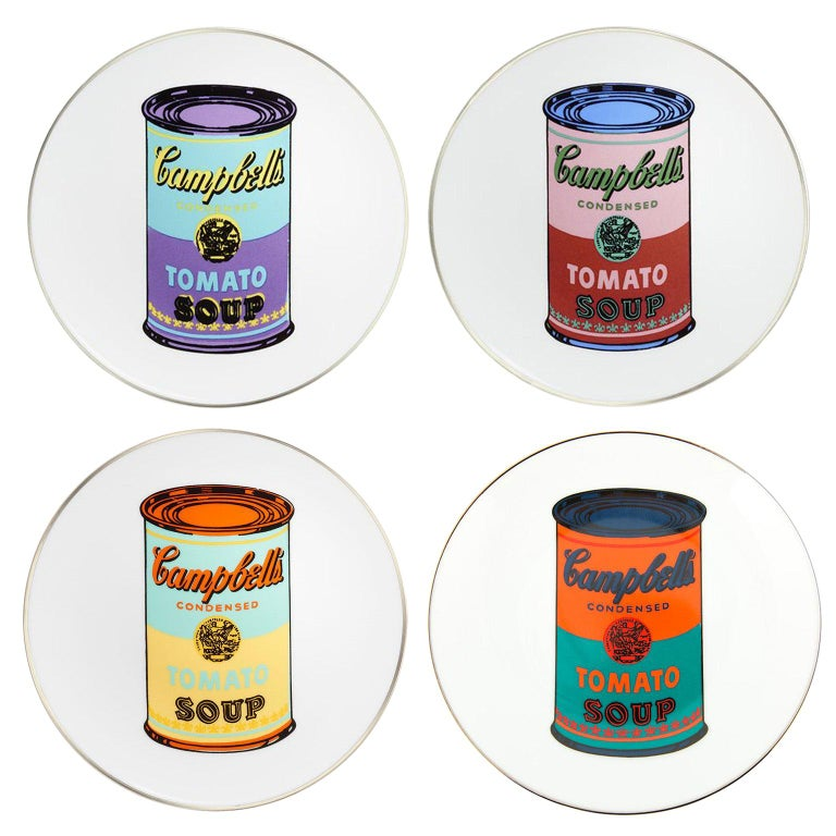 Campbell's Soup Dinner Plates, after Andy Warhol For Sale