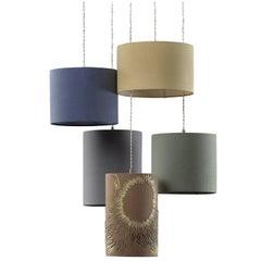 Campi Solari Five-Light Pendant Lamp