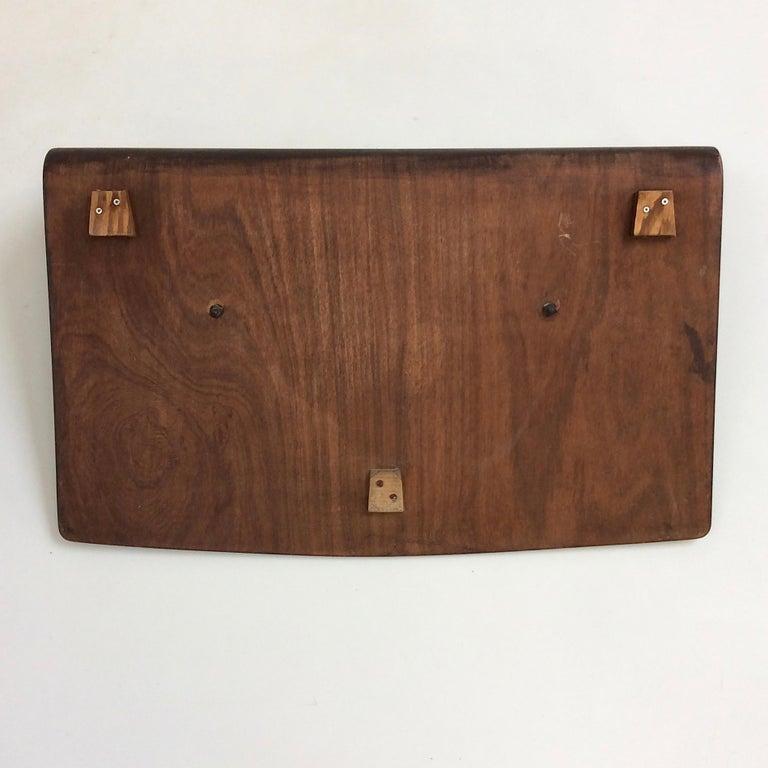 Campo et Graffi Plywood and Ceramic Coat Rack, circa 1950, Italy For Sale 1