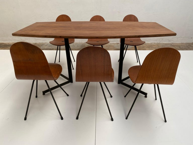 Campo & Graffi Dining Set Comprising 6 Chairs & Matching Table, 1958, published For Sale 2