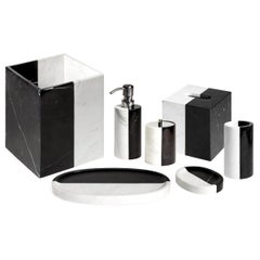 Canaan Black and White Marble Bath Set