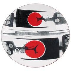 Canadian Artist Anita Trottier 1970s Enamel Copper Art Plate Centerpiece Bowl