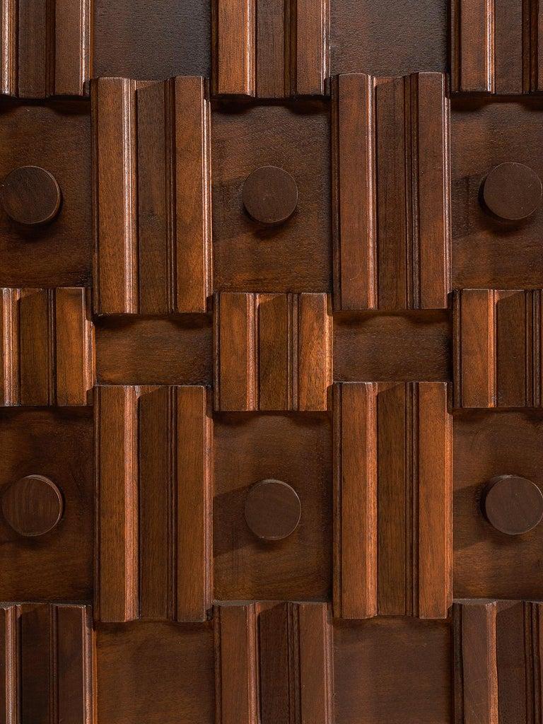 Canadian Brutalist Walnut Pedestal Sideboard For Sale 4