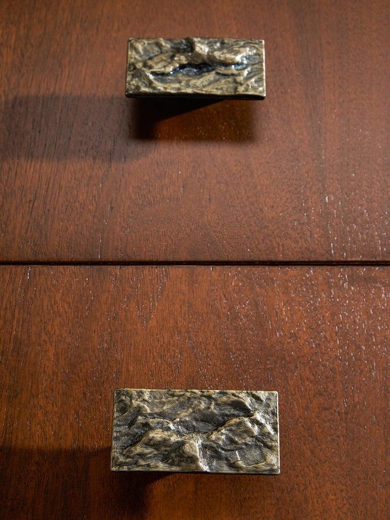 Canadian Brutalist Walnut Pedestal Sideboard For Sale 3