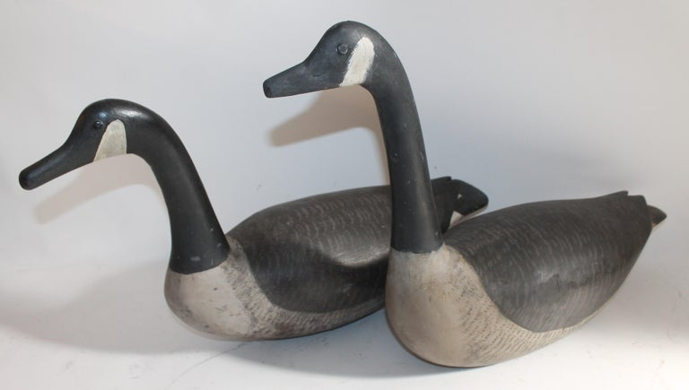 Canadian Goose Decoy, 1930s Hand Carved For Sale 1