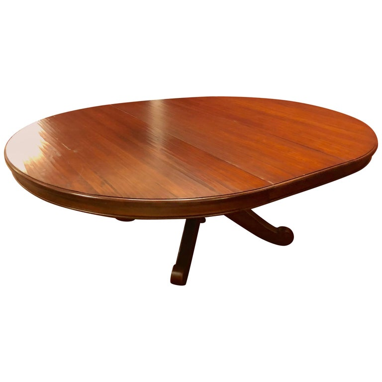 Canadian Made Single Pedestal Dining Or Centre Table For