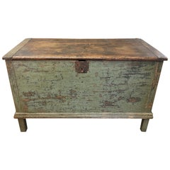 Canadian Original Painted Blanket Box