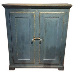Canadian Original Painted Two-Door Cupboard
