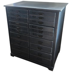 Canadian Painted 20 Drawer Architects Chest