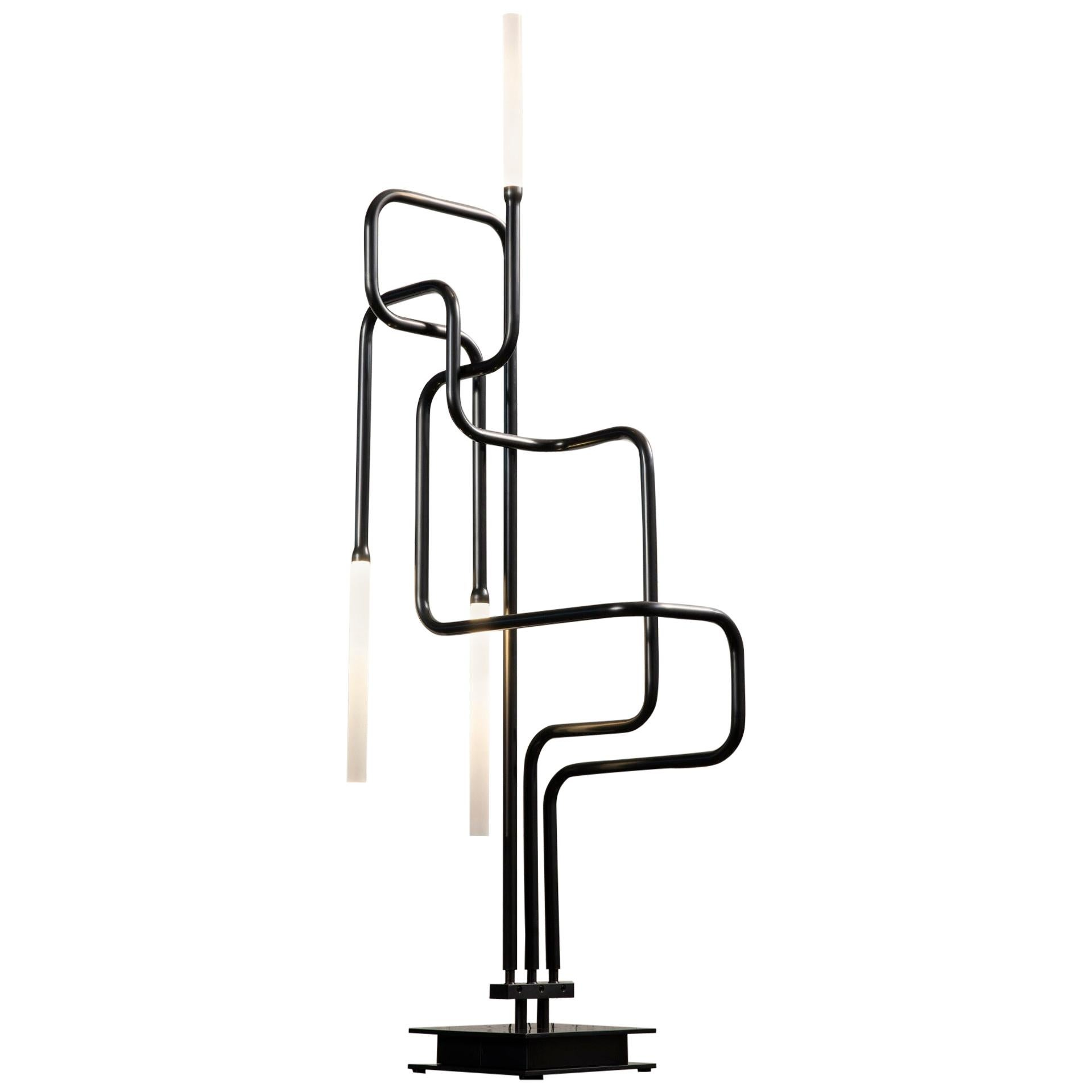 Canal Table Lamp, Handcrafted in Chicago, Designed by Christopher Gentner
