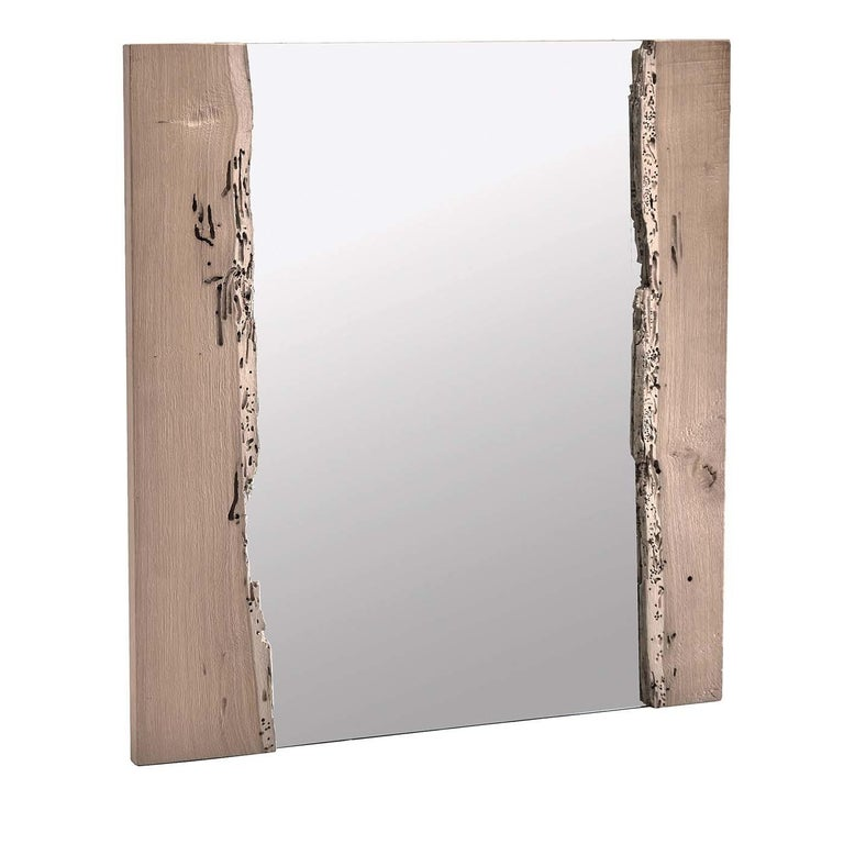 Italian Canale Vertical Wall Mirror For Sale