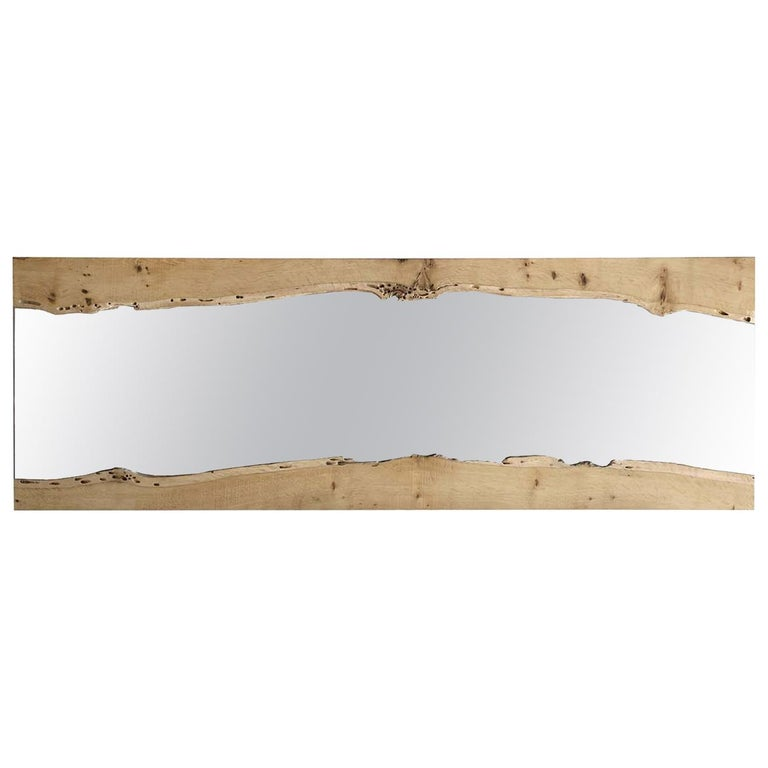 Canale Wall Mirror in Oak For Sale