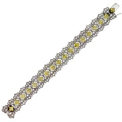 Canary Diamond Two-Tone Gold Bracelet Stambolian