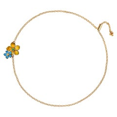 "Canary Yellow Diamonds Yellow Gold Bracelet ""Flowers"""