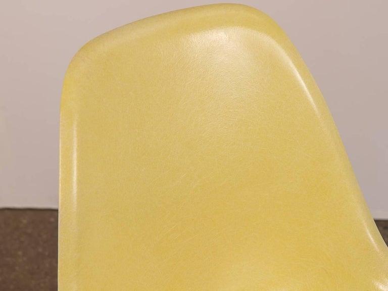 Molded Eames for Herman Miller Lemon Yellow Shell Chair For Sale