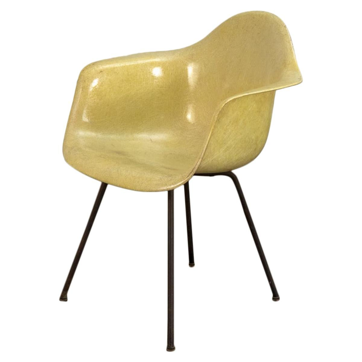Canary Yellow Zenith Rope Edge Armchair by Eames