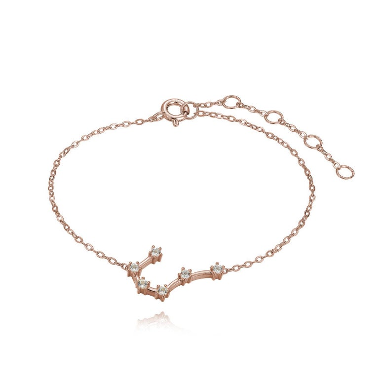 You are unique and your zodiac tells part of your story.  How your zodiac is displayed in the beautiful nighttime sky is what we want you to carry with you always. This cancer constellation anklet shares a part of your personality with us all  .925