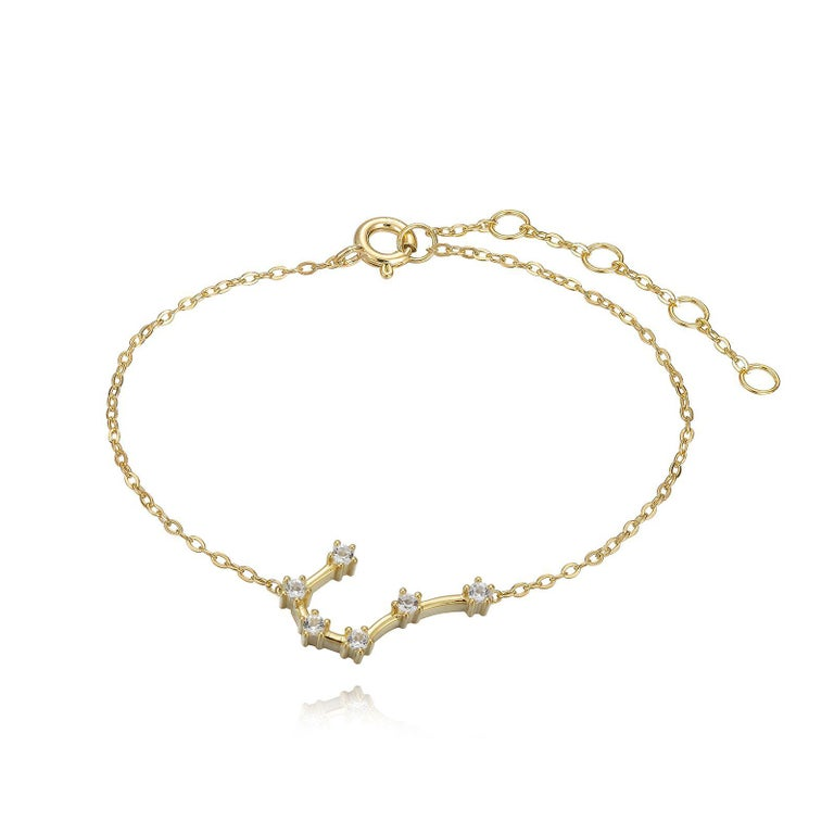 Trillion Cut Cancer Constellation Anklet For Sale