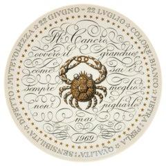 Cancer, Zodiac Plate Series by Piero Fornasetti, 1969