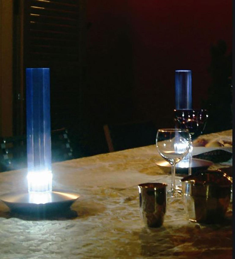 Aluminum Cand-LED Table Lamp by Marta Laudani & MarCo Romanelli for Oluce For Sale