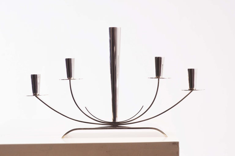 Mid-20th Century Candelabra from Ystad Metall in Sweden For Sale