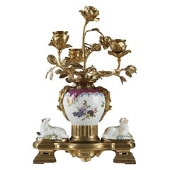 Candelabra with Sheep Attributed to Samson & Cie