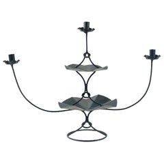 Candelabra with Three Arms from the 1960s in Painted Metal