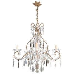Candelabrum Black Crystal Antique Chandelier Ceiling Lustre Art Nouveau